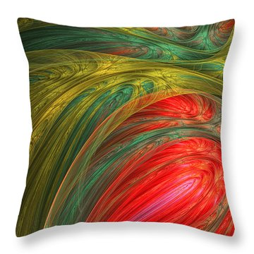 Life's Colors Throw Pillow by Lourry Legarde