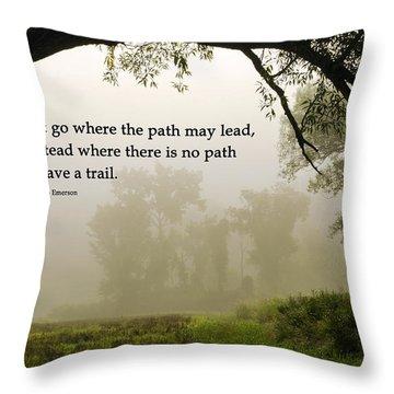 Life's Path Inspirational Art Throw Pillow