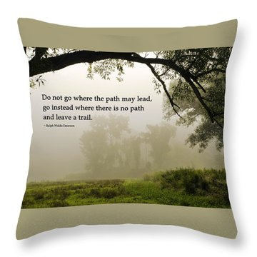 Life's Path Inspirational Art Throw Pillow by Christina Rollo