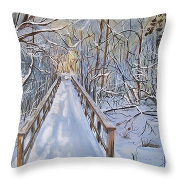 Life's  Path Throw Pillow by Sharon Duguay