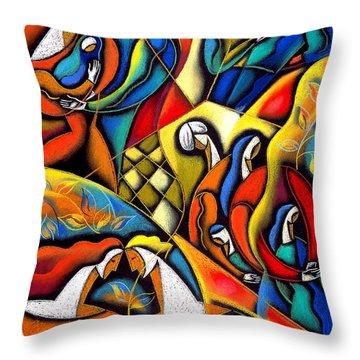 Lifestyle Throw Pillow by Leon Zernitsky
