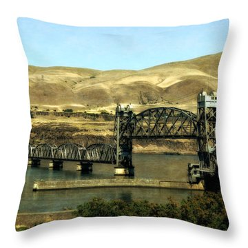 Lift Bridge Over The Columbia River Throw Pillow