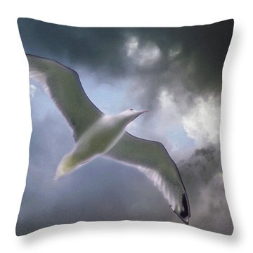 Lift - Oil Paint Effect Throw Pillow by Brian Wallace