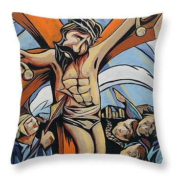 Lifted Up Throw Pillow by Rus Huffstutler