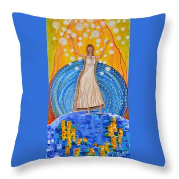 Lifting The Veil Throw Pillow