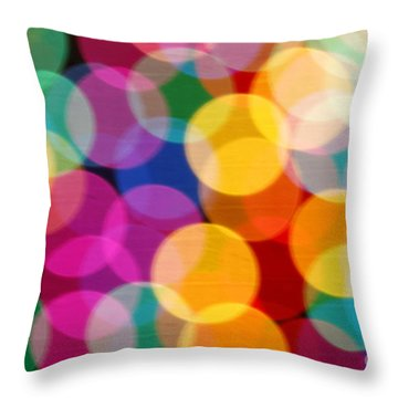 Light Abstract Throw Pillow