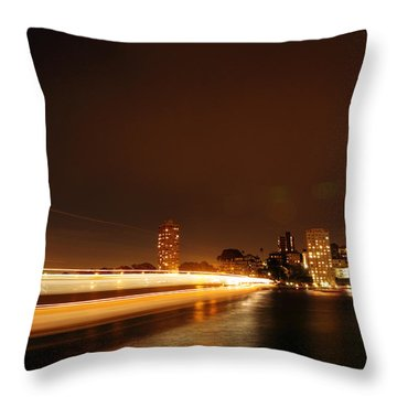 Light Across The Bay Throw Pillow by Justin Woodhouse