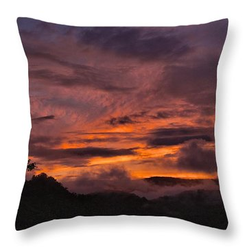 Light And Color Show Throw Pillow