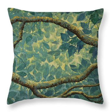 Light And Leaves Throw Pillow