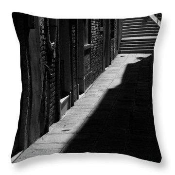 Throw Pillow featuring the photograph Light And Shadow - Venice by Lisa Parrish