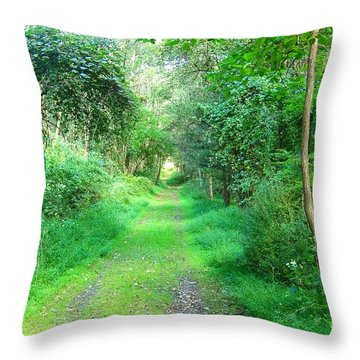 Throw Pillow featuring the photograph Light At The End Of The Tunnel by Becky Lupe