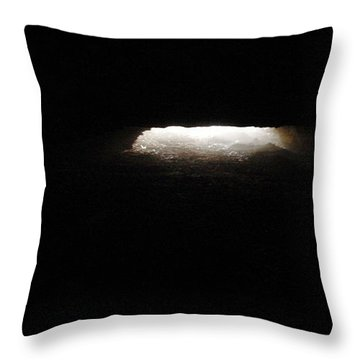 Throw Pillow featuring the photograph Light At The End Of The Tunnel by Carlee Ojeda