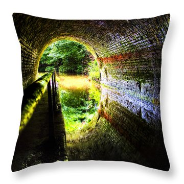 Throw Pillow featuring the photograph Light At The End Of The Tunnel by Meirion Matthias