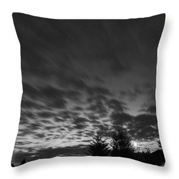 Dawn Over The Highway Throw Pillow