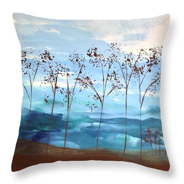 Throw Pillow featuring the painting Light Breeze by Linda Bailey