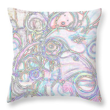 Light Circular Chicken Throw Pillow