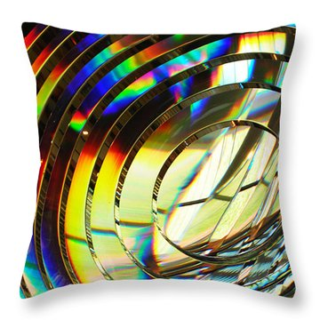Light Color 1 Prism Rainbow Glass Abstract By Jan Marvin Studios Throw Pillow