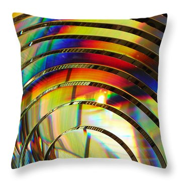 Light Color 2 Prism Rainbow Glass Abstract By Jan Marvin Studios Throw Pillow