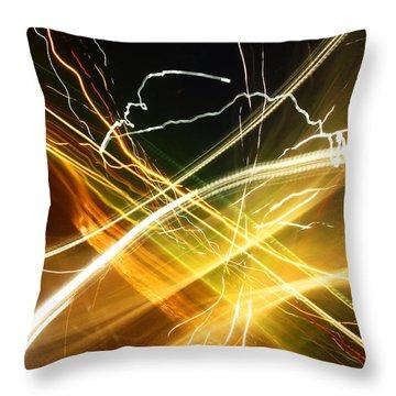 Light Curves 3 Throw Pillow by David Pantuso