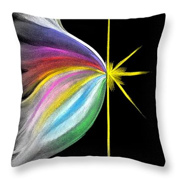 Light Emerging Throw Pillow