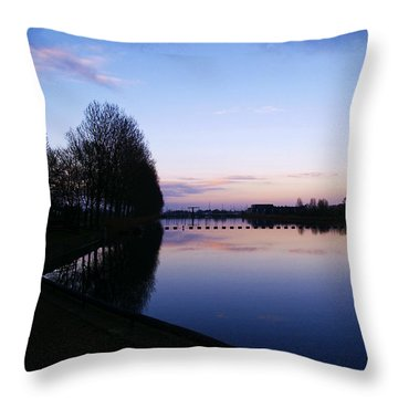 Throw Pillow featuring the pyrography Light Fall by Luc Van de Steeg