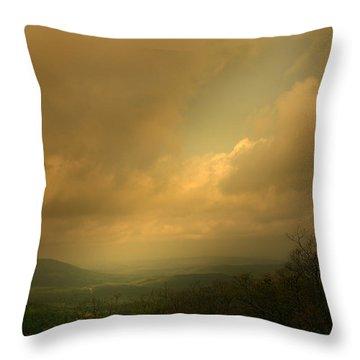 Light Fall Throw Pillow by Nina Fosdick
