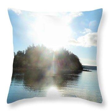 Light From Heaven Throw Pillow