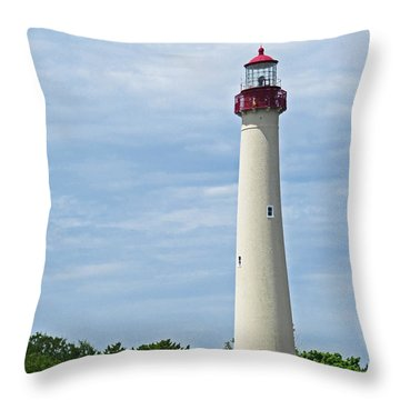 Light House At Cape May Nj Throw Pillow