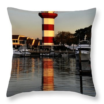 Light House At Harbour Town Throw Pillow by Dan Friend