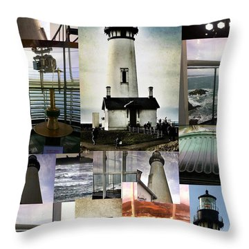 Light House Collage Throw Pillow by Susan Garren