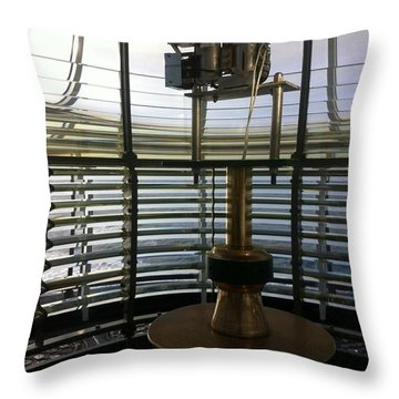 Throw Pillow featuring the photograph Light House Lamp by Susan Garren