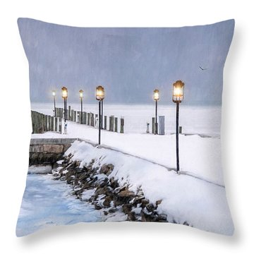 Light In A Storm Throw Pillow