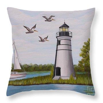 Light  In Madisonville Throw Pillow