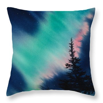 Light In The Dark Of Night Throw Pillow