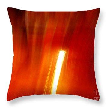 Light Intrusion Throw Pillow