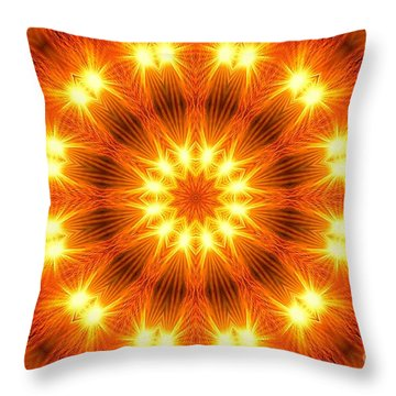 Light Meditation Throw Pillow