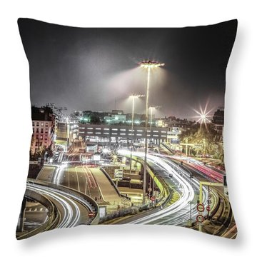 Throw Pillow featuring the photograph Light Moves by Stwayne Keubrick