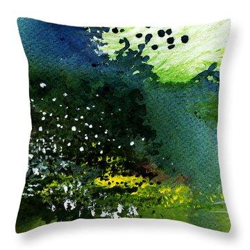 Light Music Throw Pillow by Anil Nene