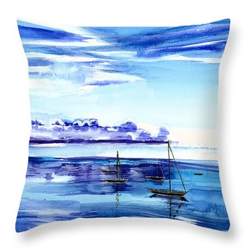 Light N Water Throw Pillow by Anil Nene