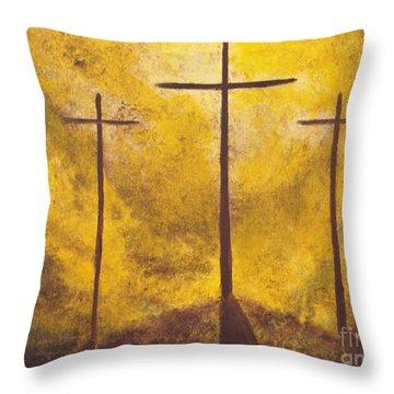 Light Of Salvation Throw Pillow by Wayne Cantrell
