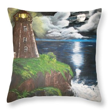 Throw Pillow featuring the painting Light Of The Moon by Sharon Duguay