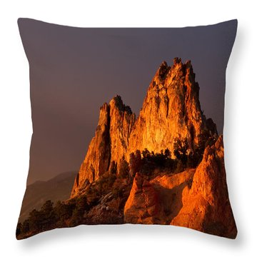 Throw Pillow featuring the photograph Light On The Rocks by Ronda Kimbrow