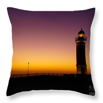 Throw Pillow featuring the photograph Light On by Trena Mara