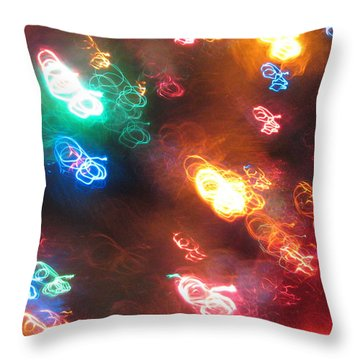 Throw Pillow featuring the photograph Light Painting by Mary Bedy