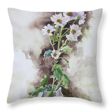Light Pink Daisies Throw Pillow