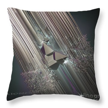 Throw Pillow featuring the digital art Light Rays by Melissa Messick