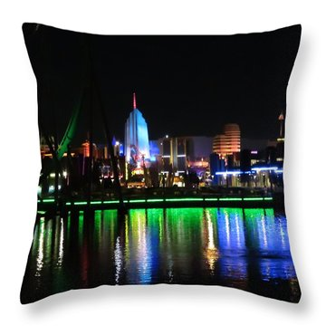 Light Reflections At Night Throw Pillow