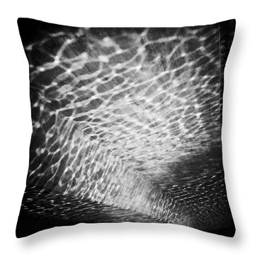 Light Reflections Black And White Throw Pillow