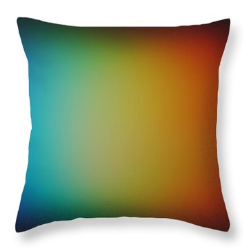 Throw Pillow featuring the photograph Light Refracted - Rainbow Through Prism by Denise Beverly