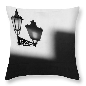Light Shadow Throw Pillow by Dave Bowman